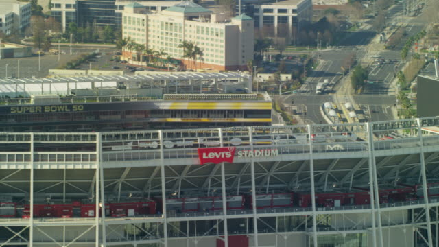 Aerial view Levi's NFL Sports Stadium San Francisco