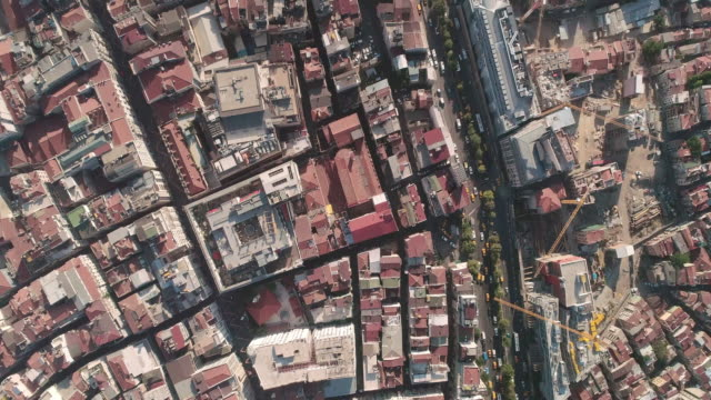 Aerial view looking down at Istanbul. Turkey.