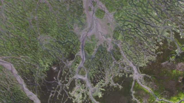 Aerial view, Marismas de Santoña, Noja y Joyel Natural Park, Cantabrian Sea, Cantabria, Spain, Europe