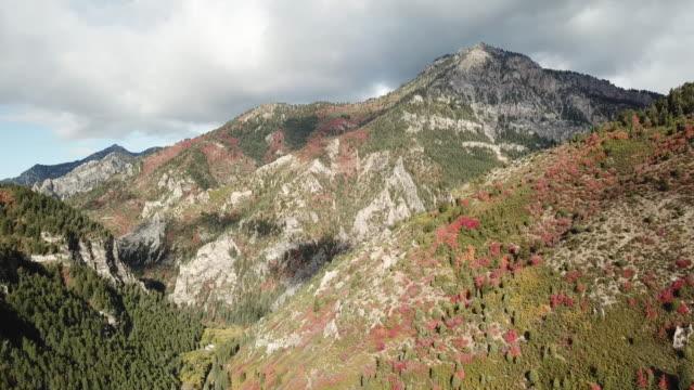 luftbild-bergen im herbst - rocky mountains stock-videos und b-roll-filmmaterial