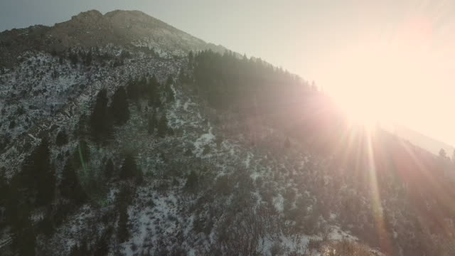 aerial view mountains - rocky mountains stock videos & royalty-free footage