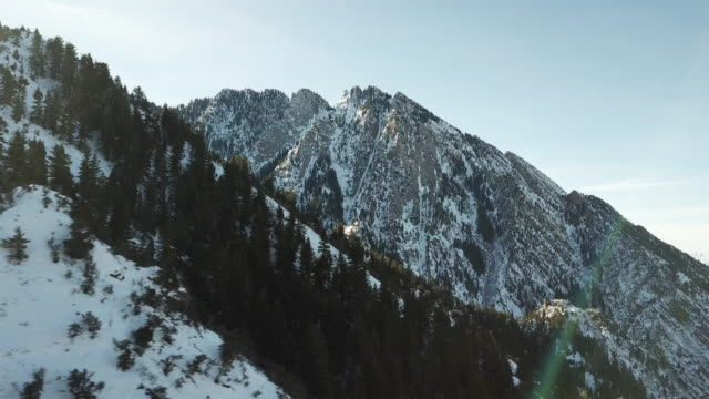 aerial view mountains - montagne rocciose video stock e b–roll