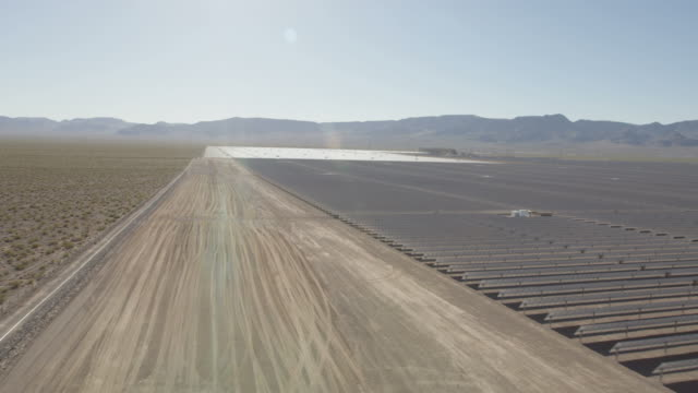 Aerial view Nevada Solar One Photovoltaic Power Station