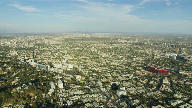 aerial view norma triangle west hollywood los angeles - west hollywood stock videos & royalty-free footage