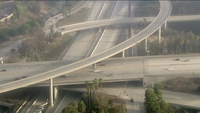 KTLA Aerial View of 210 Freeway in Pasadena