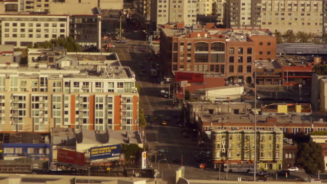 Aerial view of a block in SOMA District San Francisco