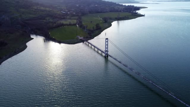 Aerial View of a Bridge Between Two Lands, Jigsaw Metaphor, Connection, Collaboration, Relation, Beauty in Nature, Seascape, Reflection in the Water, Travel Destinations, Fishermen, Walking,
