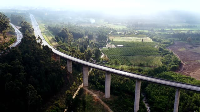 aerial view of a bridge over the valley - paarl stock videos & royalty-free footage