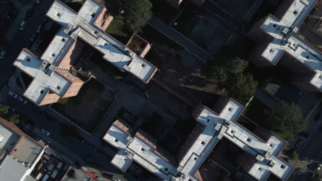 aerial view of a brooklyn public housing project - council flat stock videos & royalty-free footage