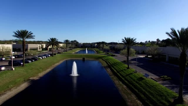 aerial view of  a business park in jacksonville florida - jacksonville florida stock videos and b-roll footage