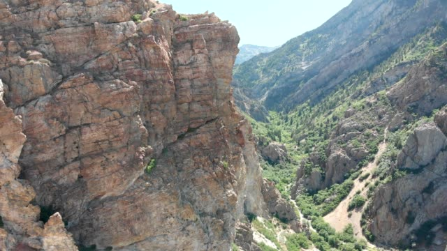aerial view of a canyon in provo utah - provo stock videos & royalty-free footage