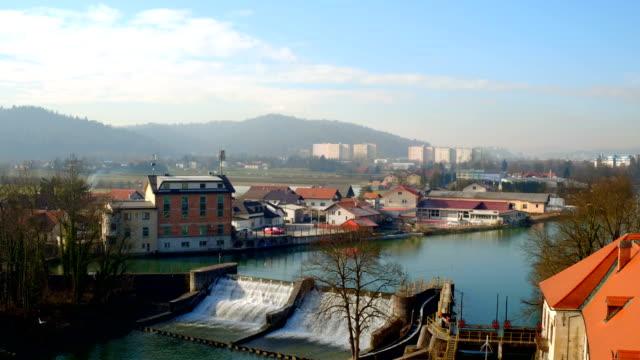 vídeos y material grabado en eventos de stock de vista aérea de la ciudad - liubliana