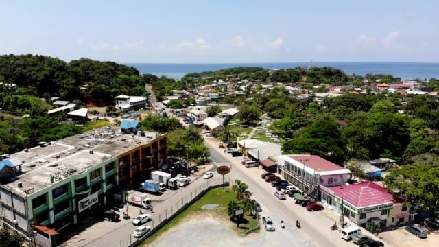 Aerial view of a community in Oakridge Honduras