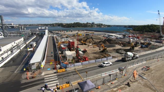 Aerial View of a Construction Site in Sydney near Barangaroo