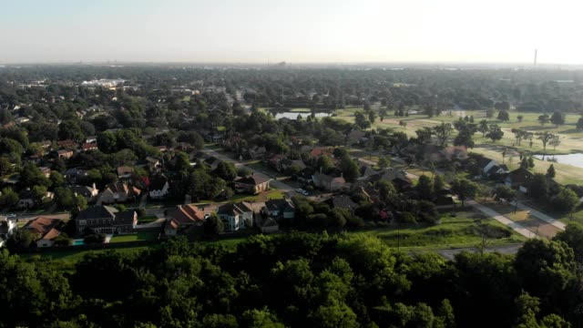 aerial view of a country club in terrytown louisiana - louisiana video stock e b–roll