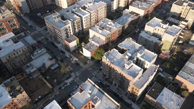 aerial view of a crowded brooklyn neighborhood - aerial stock videos & royalty-free footage