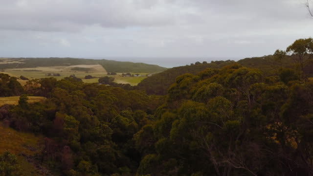 Aerial view of a landscape, in Glenaire, Great Ocean Road, Australia