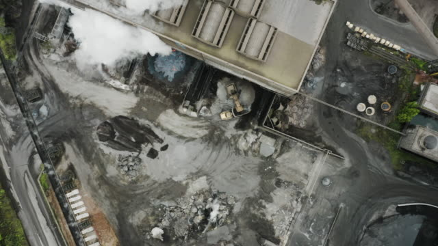 aerial view of a metallurgical plant. - metallurgy stock videos & royalty-free footage