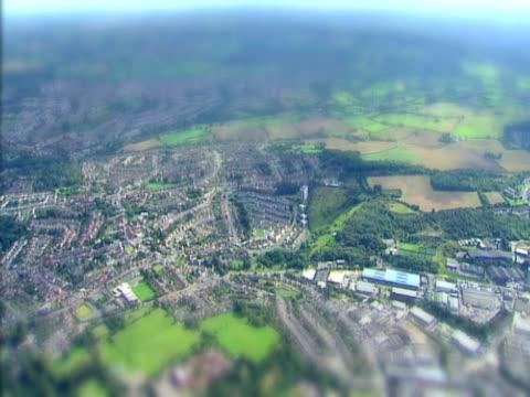 Luftbild von einer Miniatur-Globus. NTSC UND PAL