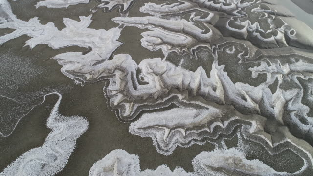 stockvideo's en b-roll-footage met aerial view of a mudflat near ganghwa island, incheon, south korea - incheon