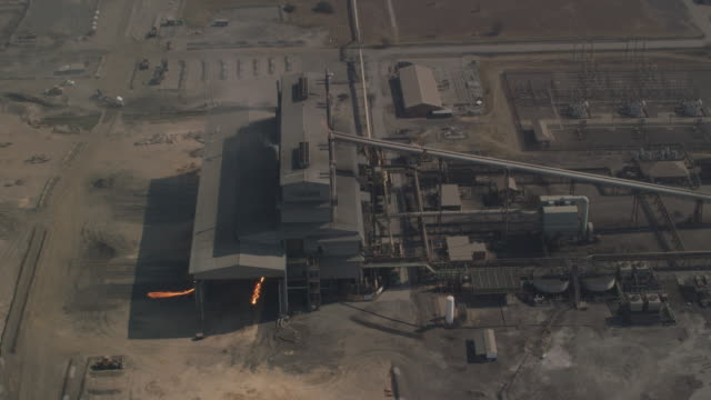 aerial view of a platinum mine in rustenburg, south africa - platinum stock-videos und b-roll-filmmaterial