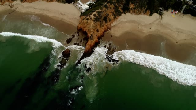 aerial view of a private beach in laguna beach california - laguna beach california stock videos & royalty-free footage