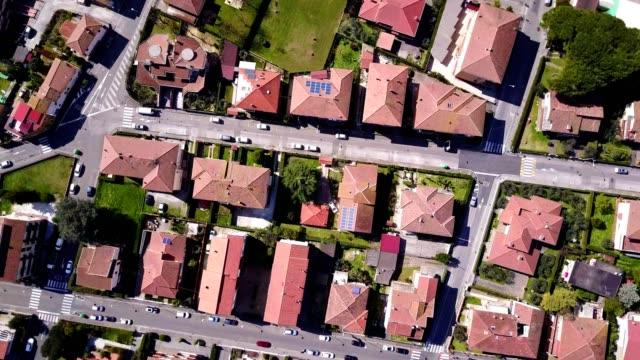 Luftaufnahme eines Wohnviertels