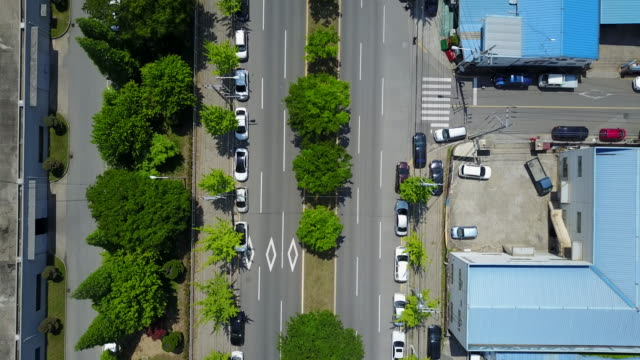 Aerial view of a road near Gumi Industrial Estate