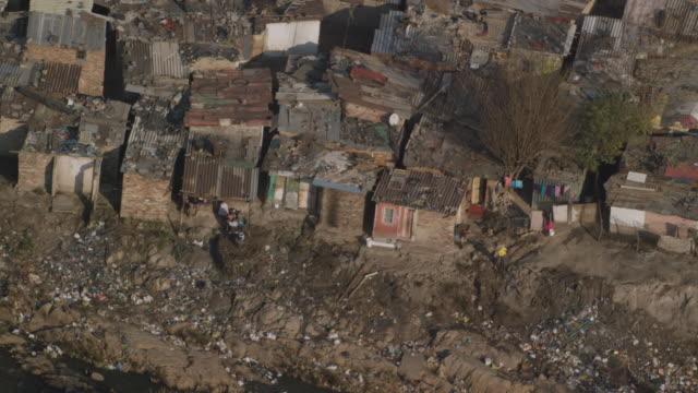 aerial view of a rural settlement - スラム街点の映像素材/bロール