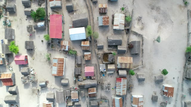 aerial view of a small rural township on ambola beach, madagascar - by bildbanksvideor och videomaterial från bakom kulisserna