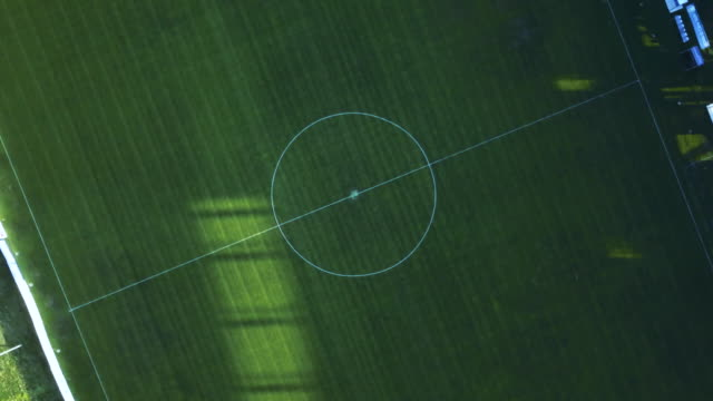 aerial view of a soccer field - soccer sport stock videos & royalty-free footage