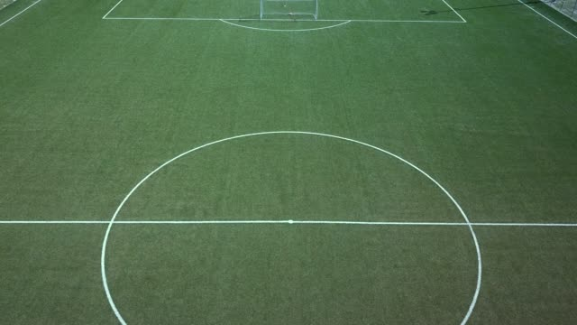 Aerial view of a soccer field