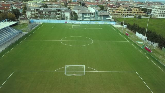aerial view of a soccer field - football pitch stock videos and b-roll footage