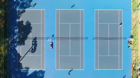aerial view of a tennis courts in china - sports court stock videos & royalty-free footage