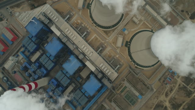 Aerial View of A Thermal Power Plant