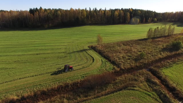 Aerial view of a tractor