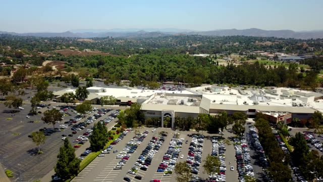 aerial view of a westfield mall in escondido california - shopping mall stock videos & royalty-free footage