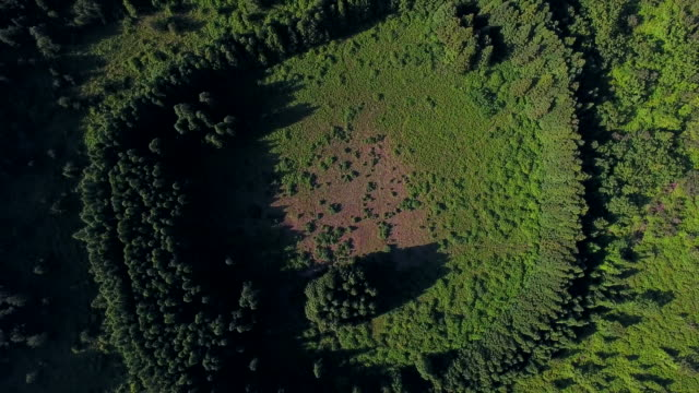 aerial view of abuoreum (cinder cone) - kegel stock-videos und b-roll-filmmaterial