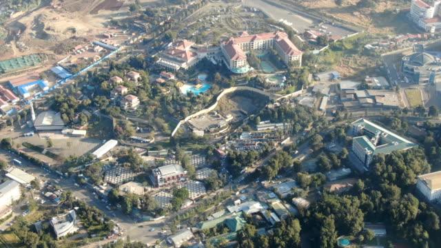 aerial view of addis ababa city center/ sheraton addis, ethiopia - アジスアベバ点の映像素材/bロール