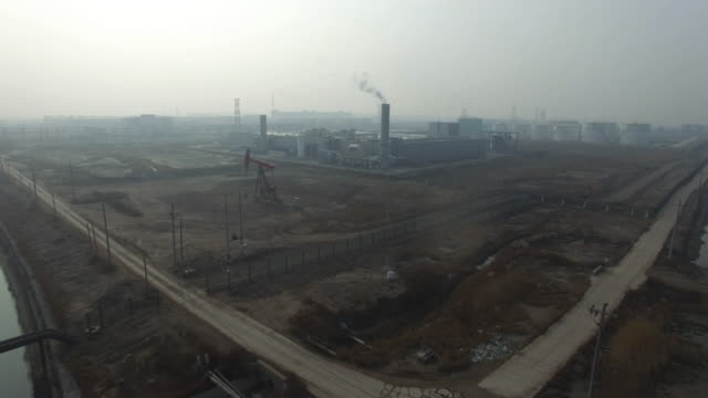 Aerial View of air pollution on Jan 06 2017 at Tianjin China