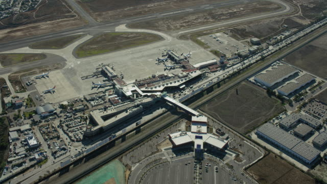 Aerial View Of Airport In Tijuana Mexico