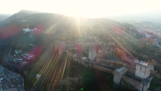 Aerial view of Alhambra Palace (UNESCO World Heritage Site)