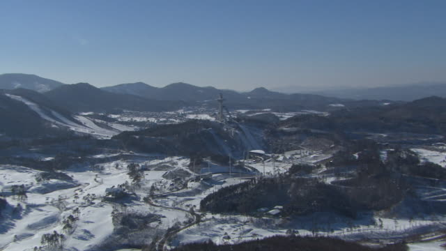 Aerial view of Alpensia Ski Jumping Stadium in Pyeongchang (2018 Winter Olympics)