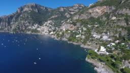 Aerial view of Amalfi coast. Italy