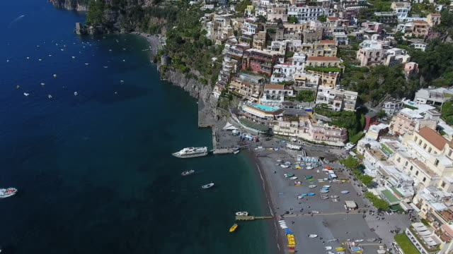 aerial view of amalfi coast. italy - south stock videos & royalty-free footage