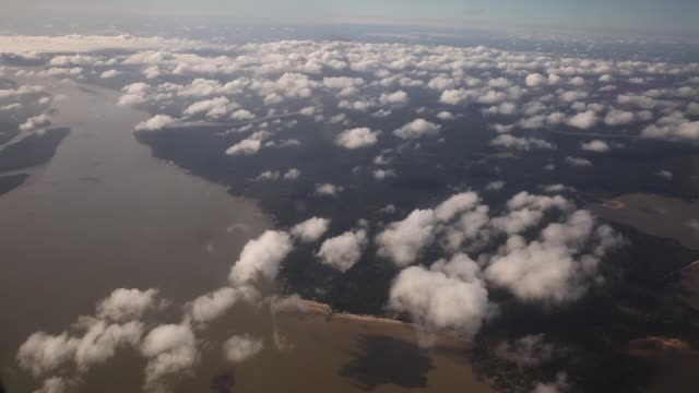 aerial view of amazon basin on november 25 2014 in para state brazil - para state stock videos & royalty-free footage