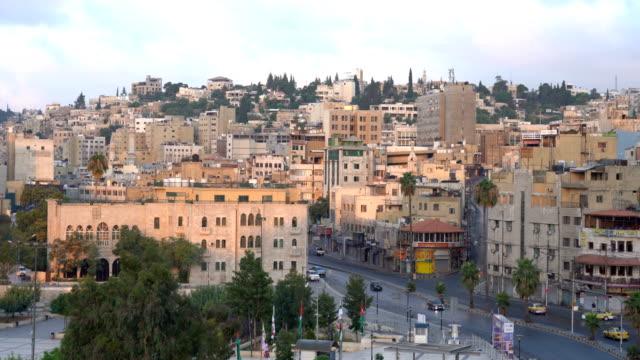 ヨルダンの首都アンマン市の上空からの眺め - ヨルダン点の映像素材/bロール