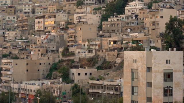 ヨルダンの首都アンマン市の空中写真 - 地理的地域 国点の映像素材/bロール