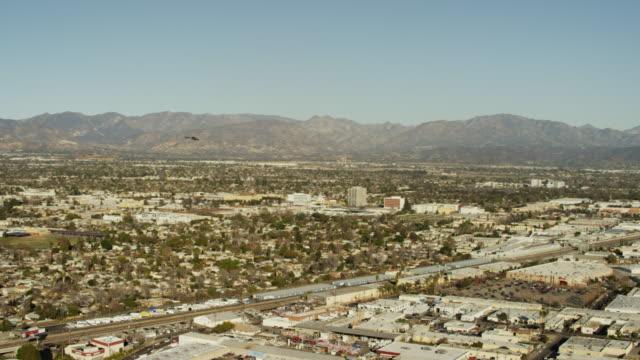 Aerial view of Amtrak Railway Station Los Angeles