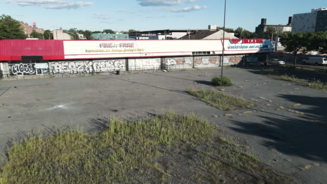 aerial view of an abandoned lot in brooklyn - destruction stock videos & royalty-free footage